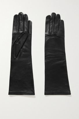 Agnelle Celia Leather Gloves - Black