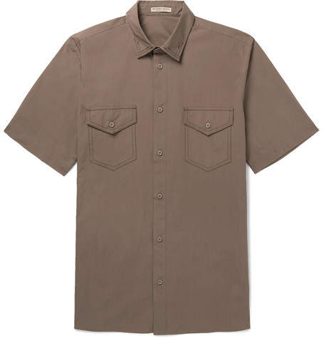 Bottega Veneta Garment-Dyed Cotton-Poplin Shirt