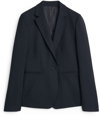 Arket Wool Hopsack Blazer