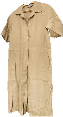 Max Mara Beige Linen Dresses