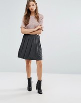 Lavand Gray Pleated Skirt