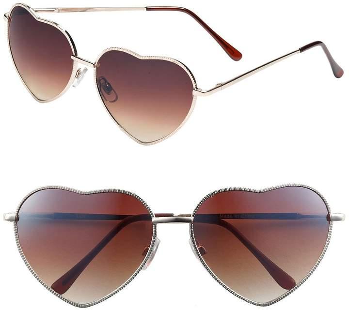 BP Heart Shaped 58mm Sunglasses
