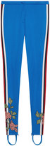 Gucci Embroidered jersey stirrup legging - women - Cotton/Polyester - XS