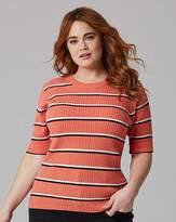 Fashion World Stripe Rib Top