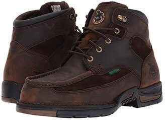 Georgia Boot 6 Athens Moc Toe/Steel Toe (Brown) Men's Boots