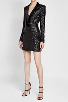 Balmain Sequinned Dress with Satin
