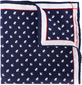 fe-fe swan print pocket square - men - Silk - One Size