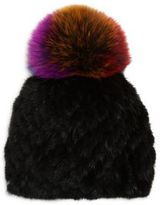 Jocelyn Hollywood Fur Pom-Pom Hat