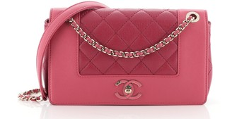 Chanel Mademoiselle Vintage Flap Bag Quilted Sheepskin Small