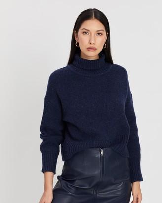 Ena Pelly Turtleneck Cropped Knit