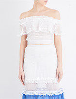 Jonathan Simkhai Off-the-shoulder crochet knitted top