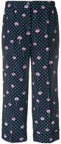 Miu Miu flower print trousers