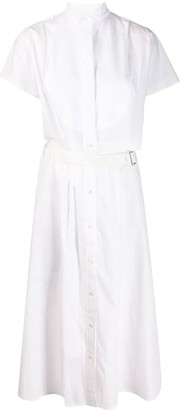 Sacai White Cutaway Shirt Dress
