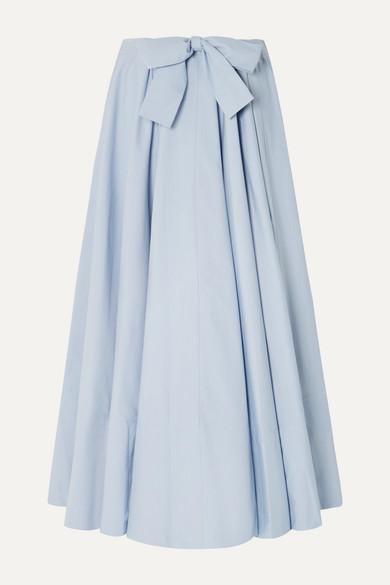 Co Cotton-poplin Maxi Skirt - Light blue