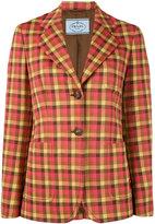 Prada checked jacquard blazer