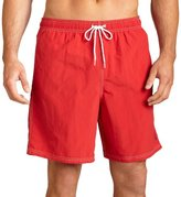 Nautica Men's Solid Nylon Swim Trunk,Red,Small