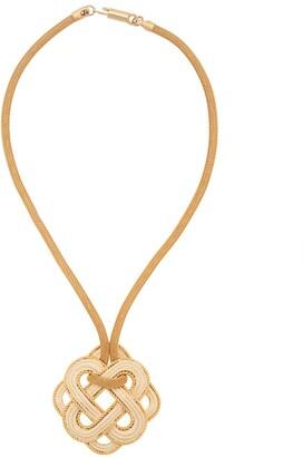 LANVIN Pre-Owned 1970's Intrecciato necklace