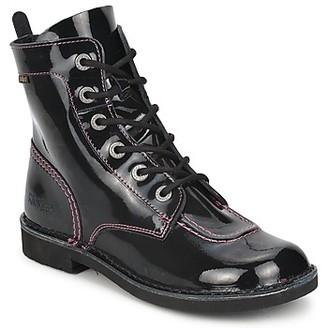 Kickers KICK MOOD girls's Mid Boots in Black