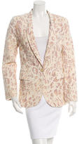 Torn By Ronny Kobo Leopard Print Single-Button Blazer