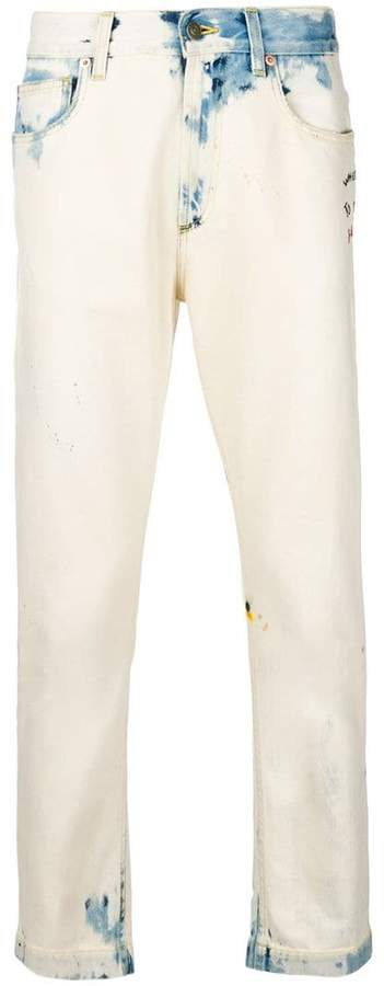 Gucci bleached-effect jeans