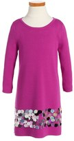 Milly Minis Paillette Knit Dress (Toddler, Little Girls & Big Girls)