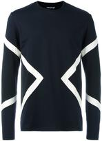 Neil Barrett geometric print top