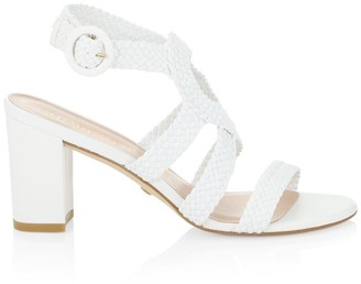 Stuart Weitzman Vicky Woven Leather Sandals