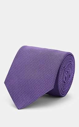 Barneys New York Men's Neat Silk Jacquard Necktie - Purple