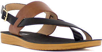 Lust For Life Lust for Life Women's Sandals Black - Black & Brown Strappy Sugar Slingback Sandal - Women
