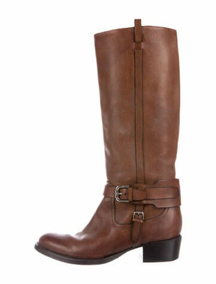 Ralph Lauren Purple Label Leather Riding Boots Purple