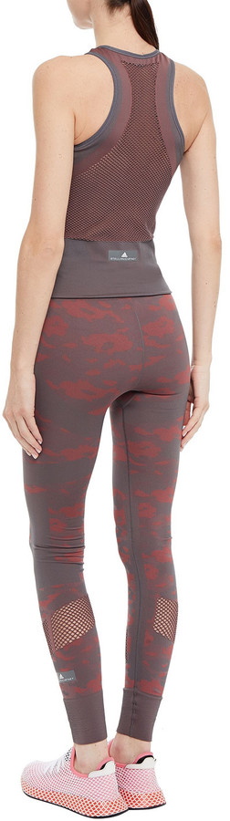 Thumbnail for your product : adidas by Stella McCartney Ess Ruched Stretch-jacquard Tank