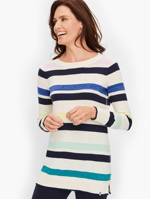 Talbots Colorful Striped Crewneck Sweater