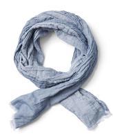 Frank & Oak Lightweight Cotton Scarf In Light Blue
