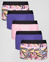 Asos Hipsters With Aztec Print 5 Pack Save