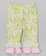 Flap Happy Bella Brocade Double-Ruffle Capris - Infant Toddler & Girls