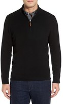 Nordstrom Men's Big & Tall Cashmere Quarter Zip Sweater