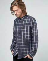 Lee Slim Check Western Shirt Storm Grey