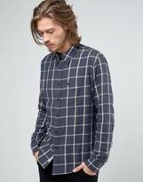 Lee Slim Check Western Shirt Storm Grey