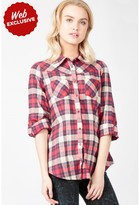 Select Fashion Fashion Womens Blue Brushed Check Shirt - size 6