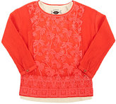 Scotch R'Belle EMBROIDERED COTTON BLOUSE & TANK-RED, PINK, CREAM SIZE 10