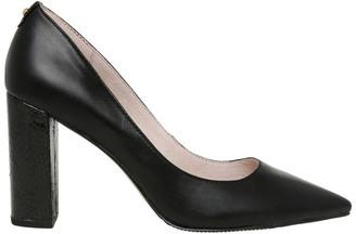 Basque Nicolette Black Leather Heel