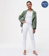 LOFT Modern Fresh Cut Skinny Jeans in White