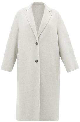 Joseph Newman Single-breasted Wool-blend Coat - Womens - Light Grey