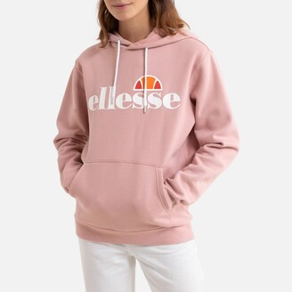 Ellesse Printed Cotton Mix Hoodie with Centre Pocket