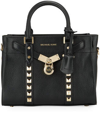 MICHAEL Michael Kors Nouveau Studded Leather Satchel Tote Bag
