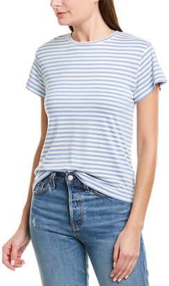 Vince Midi Stripe Silk-Blend T-Shirt