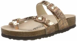 Birkenstock Passe-pouces Mayari Microfibre Gator Gleam Copper Womens Sandal
