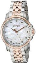 Bulova Accu Swiss Women's 65R164 Diamond Two Tone Watch