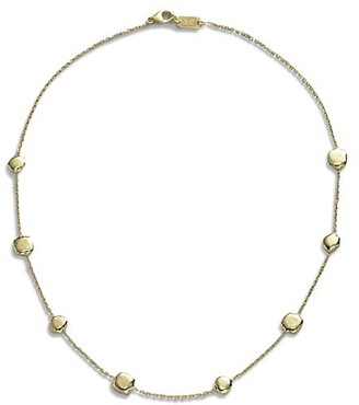 Ippolita Classico Short 18K Yellow Gold Hammered Pinball Multi-Station Chain Necklace