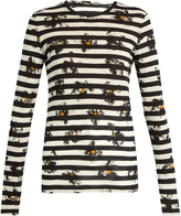 Proenza Schouler Stripe and floral-print long-sleeved T-shirt